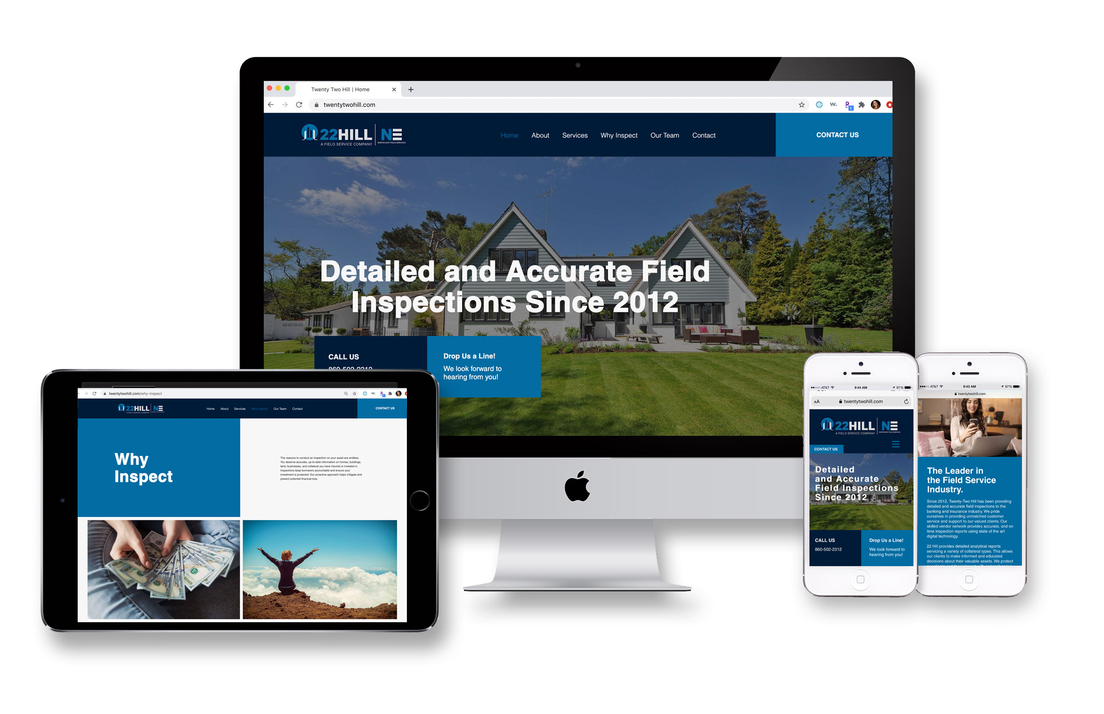 Twenty Two Hill website design