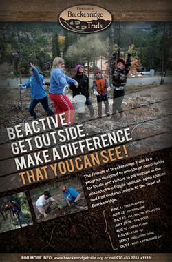 Breckenridge Trails Poster Design