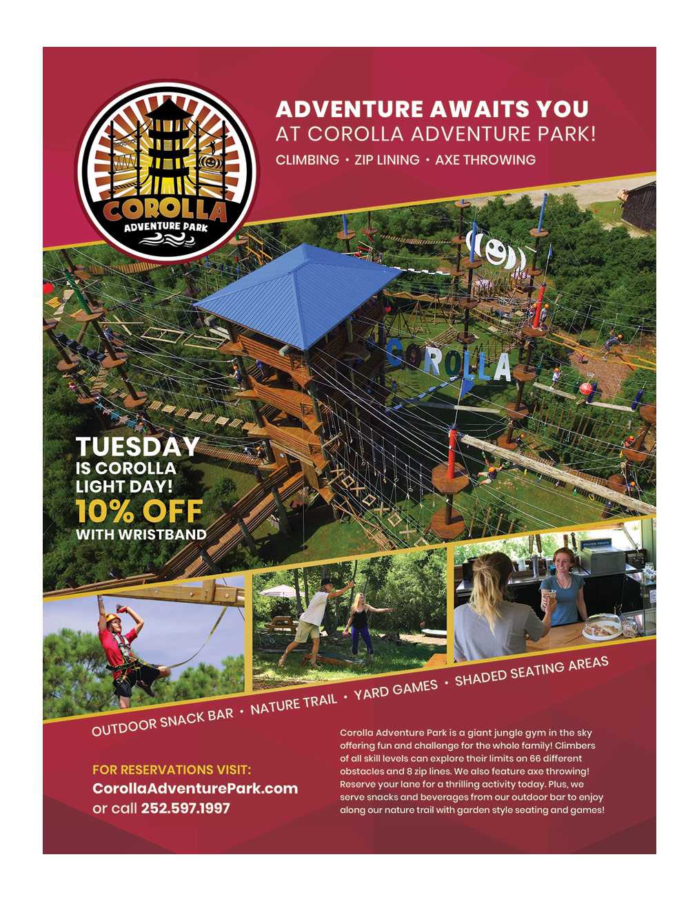 Corolla Adventure Park Full Page Ad