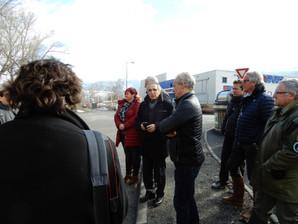 Visite de chantier en présence des élus locaux et de la presse