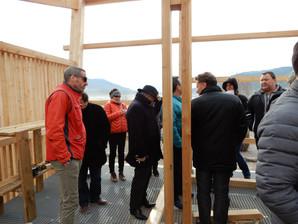 Visite de chantier pour les socio-professionnels et les hébergeurs