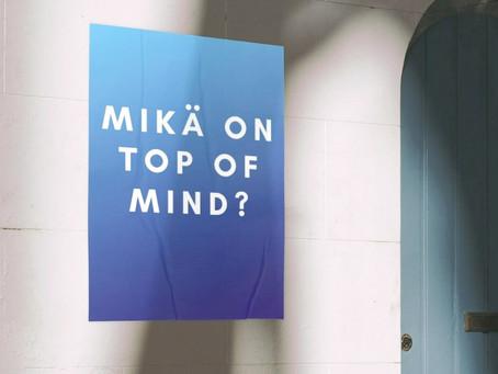 mitä tarkoittaa top of mind?