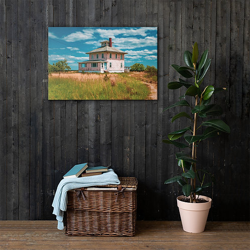 Pink House Canvas