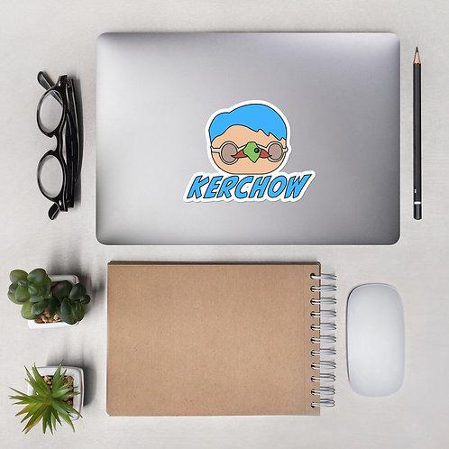Blue Hair Kerchow Sticker