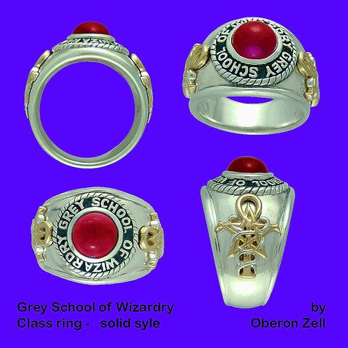Grey School Class Ring Deluxe