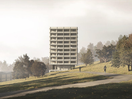 Renders for a Competition, housing and educational development in Magglingen
