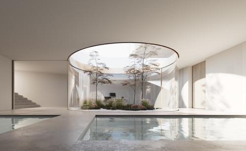 rendering house interior zürich jan kinsbergen architekten