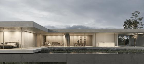 visualización 3d casa exterior daluz gonzalez architekten