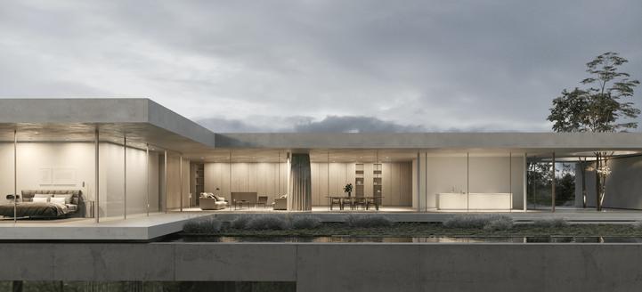 3d Visualisierung hause daluz gonzalez architekten