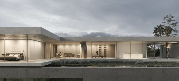 rendering house exterior daluz gonzalez architekten