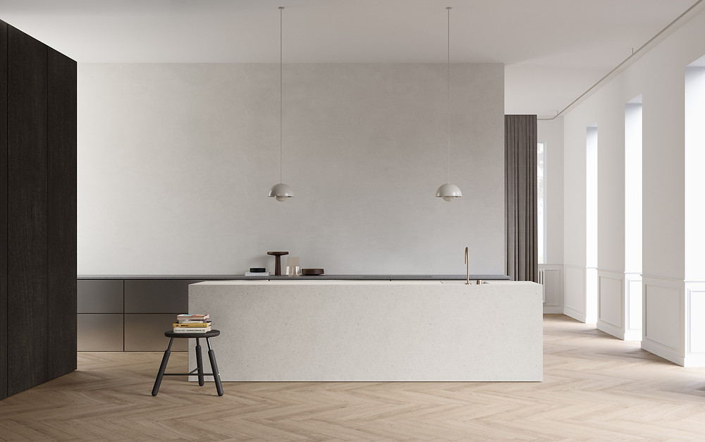 rendering minimalist kitchen
