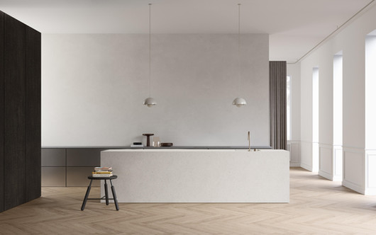 rendering interior kitchen design brussels