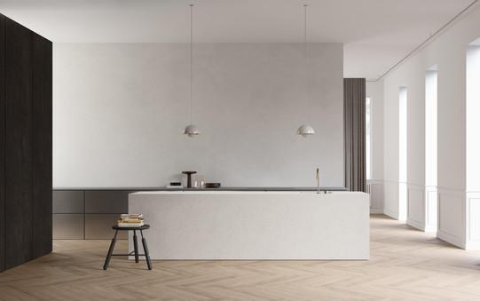 rendering interior kitchen design brussels