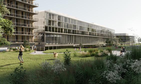 campus sante rendering competition architecture building jan kinsbergen zürich