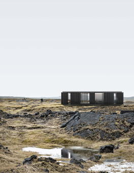 3d Rendering of a cabin