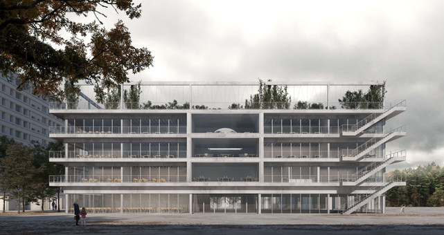 rendering competition exterior school geneva gnwa architekten