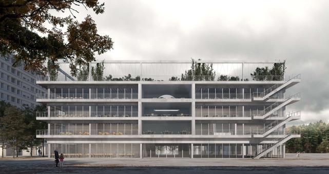 rendering competition exterior school geneva gnwa architekten