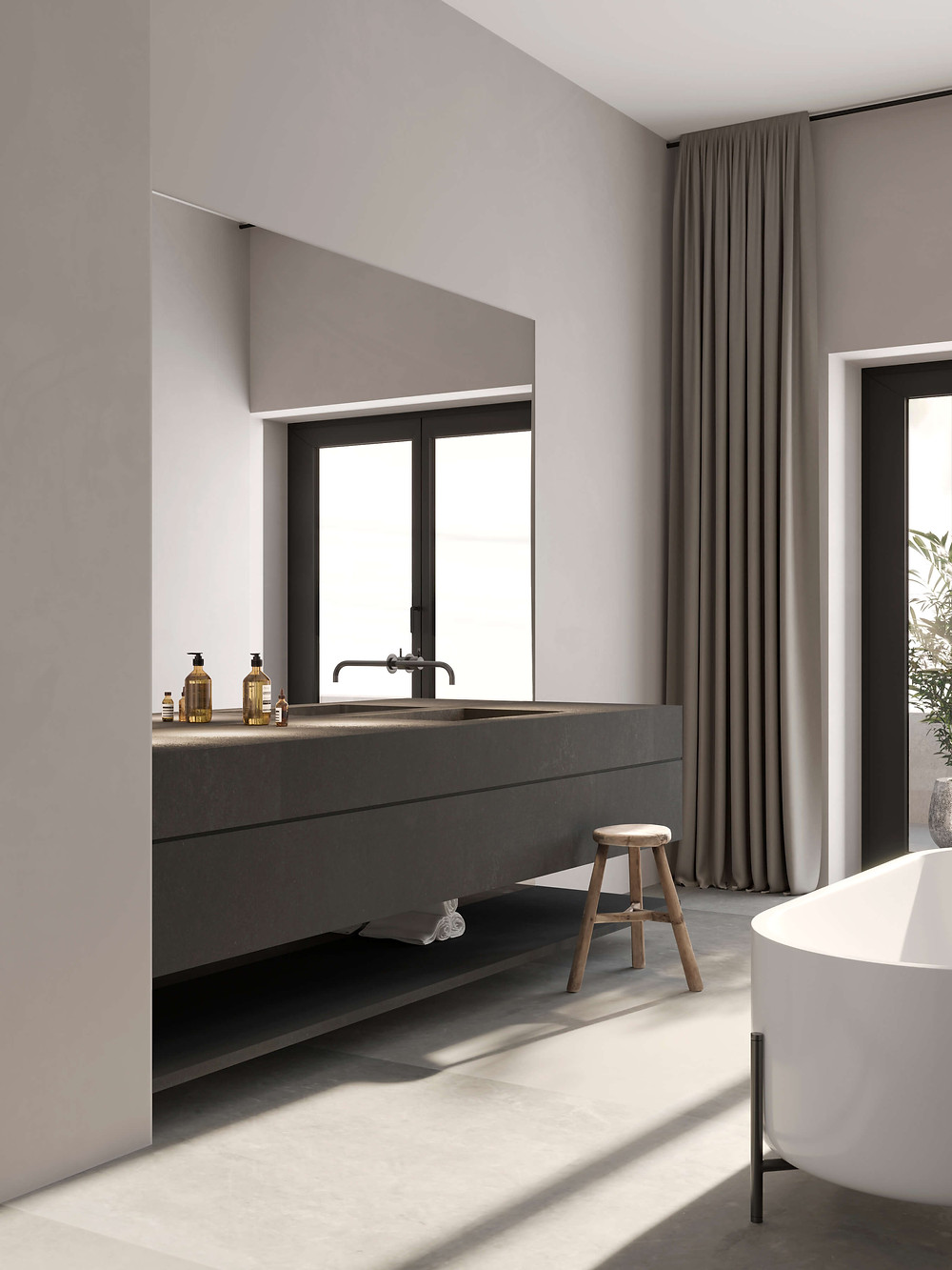 render 3d baño vivienda