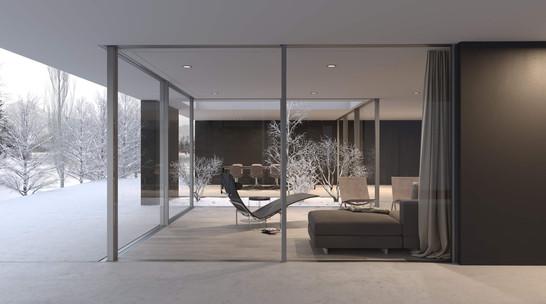 rendering exterior house hf architektur nottwil