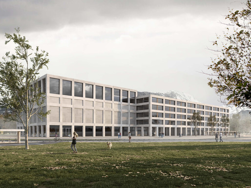 Renderings for an Architectural Competition, University in Sion