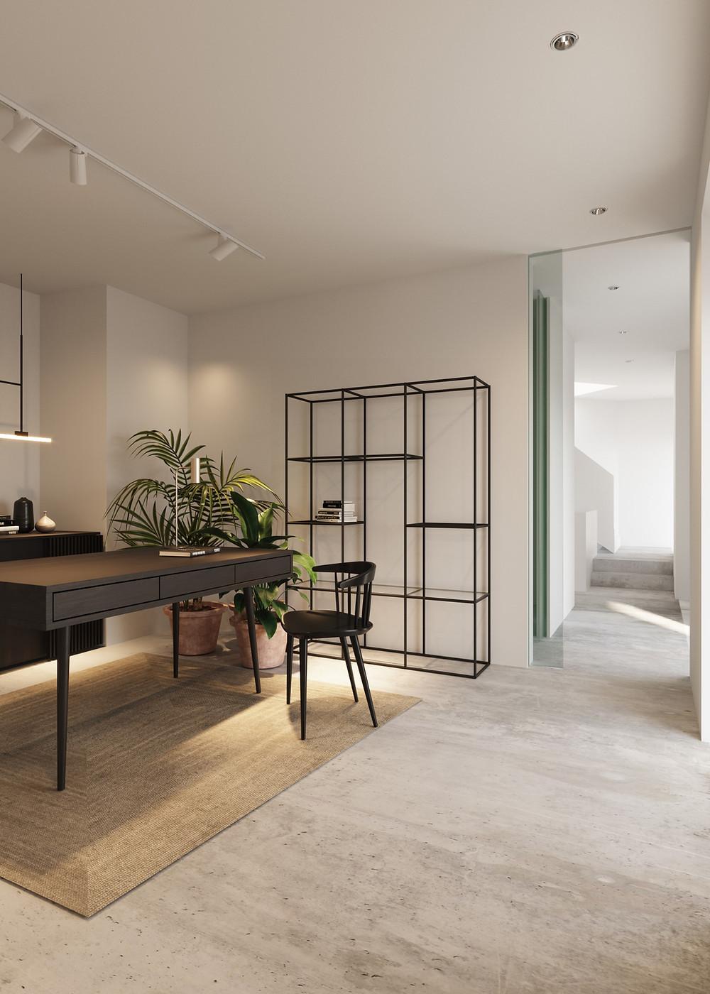 Interior design pharmacy render