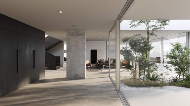rendering interior house hf architektur nottwil