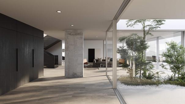 rendering interior house hf architektur nottwil