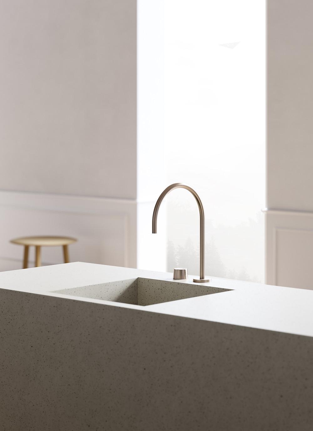 rendering minimalist faucet tap
