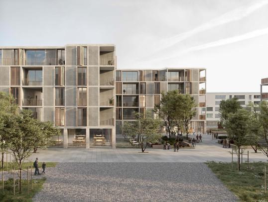 3d-Außenvisualisierung für Architekturwettbewerb