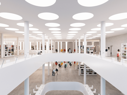3d rendering library interior