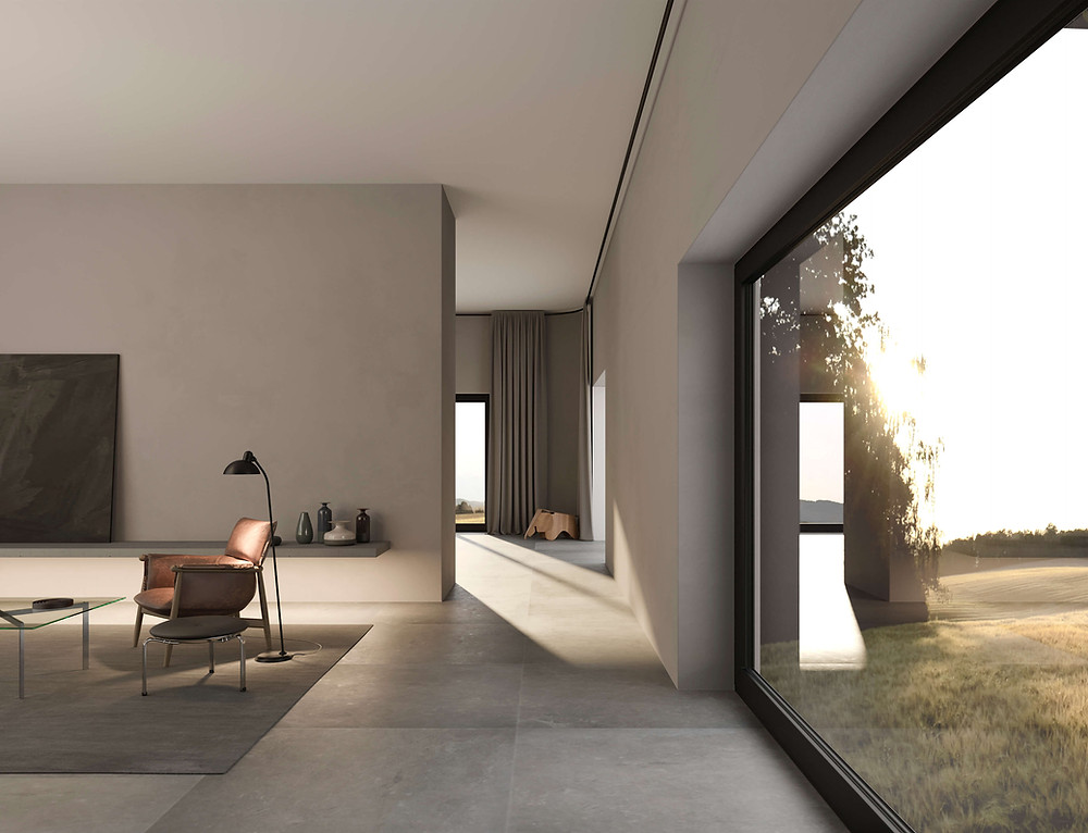 interior rendering living room