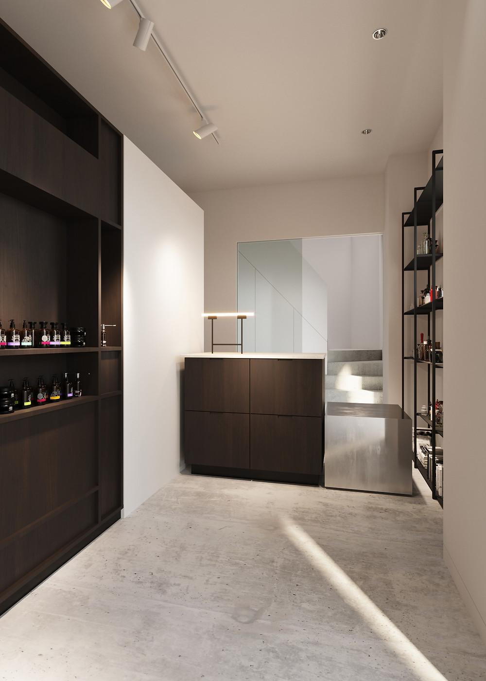 Interior design pharmacy render 03