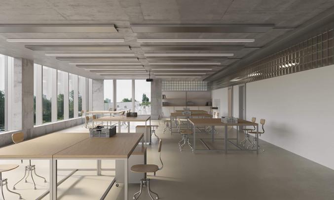 render concurso arquitectura escuela zürich jan kinsbergen architekten