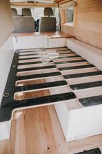 Interlocking bed frame