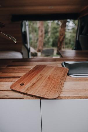 Click in sink chopping board