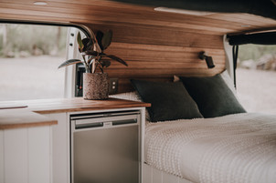 Fridge and bed