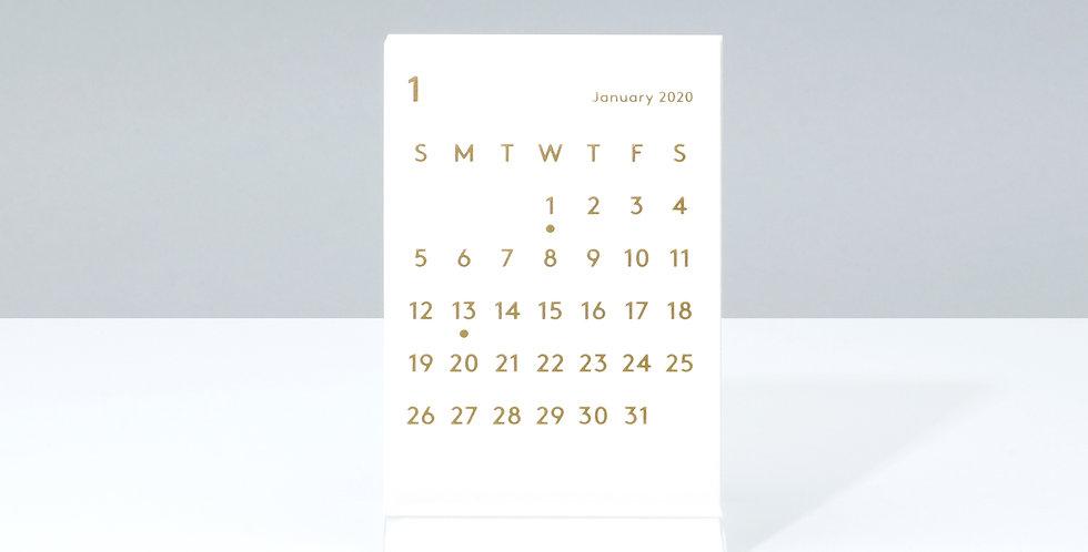 CLARAデスクカレンダー 2020 ホワイト