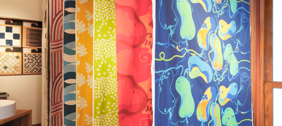 Textiles at showroom