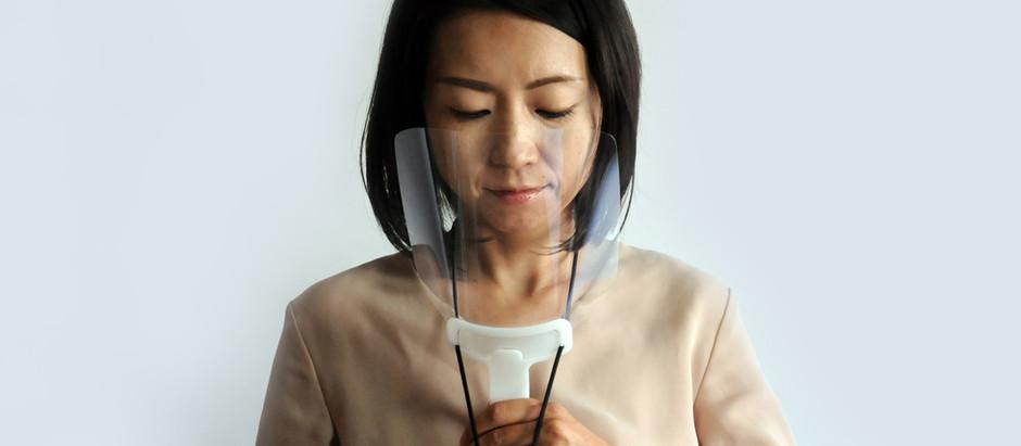 コロナ禍におけるイベント時や飲食時の飛沫防止に。首掛けできる手持ちマスク「CCガード」の提供開始。