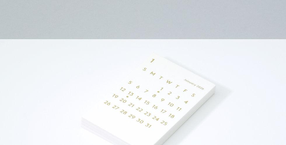 CLARAカレンダーリフィル 2020 ホワイト