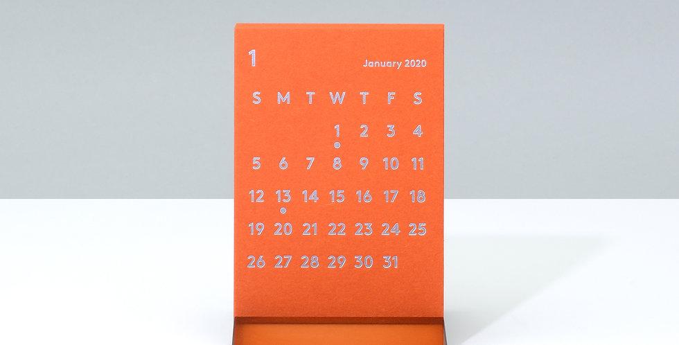 CLARAデスクカレンダー 2020 オレンジ