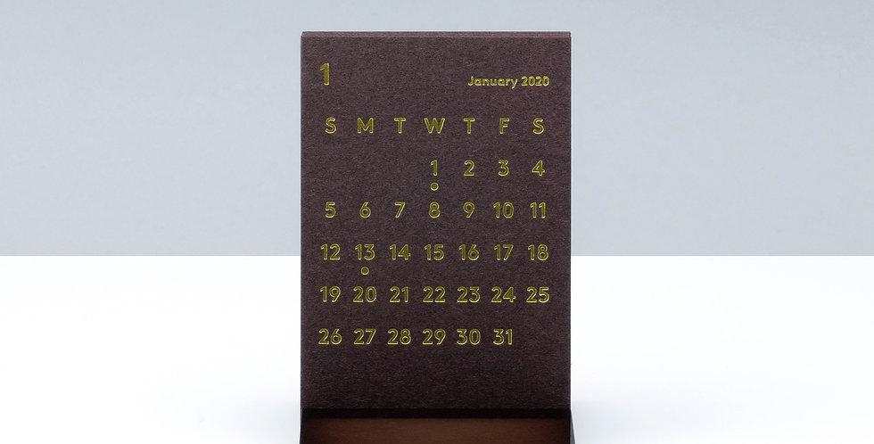 CLARAデスクカレンダー 2020 ブラウン
