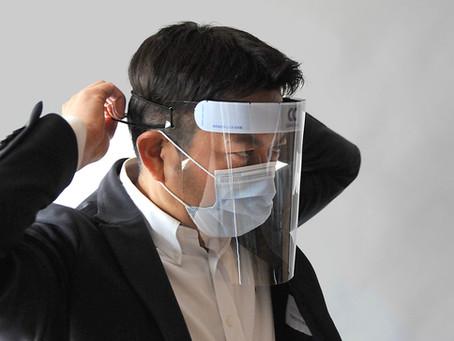 新型コロナウイルスから身を守る国産フェイスシールドを開発