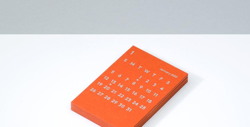 CLARAカレンダーリフィル 2020 オレンジ