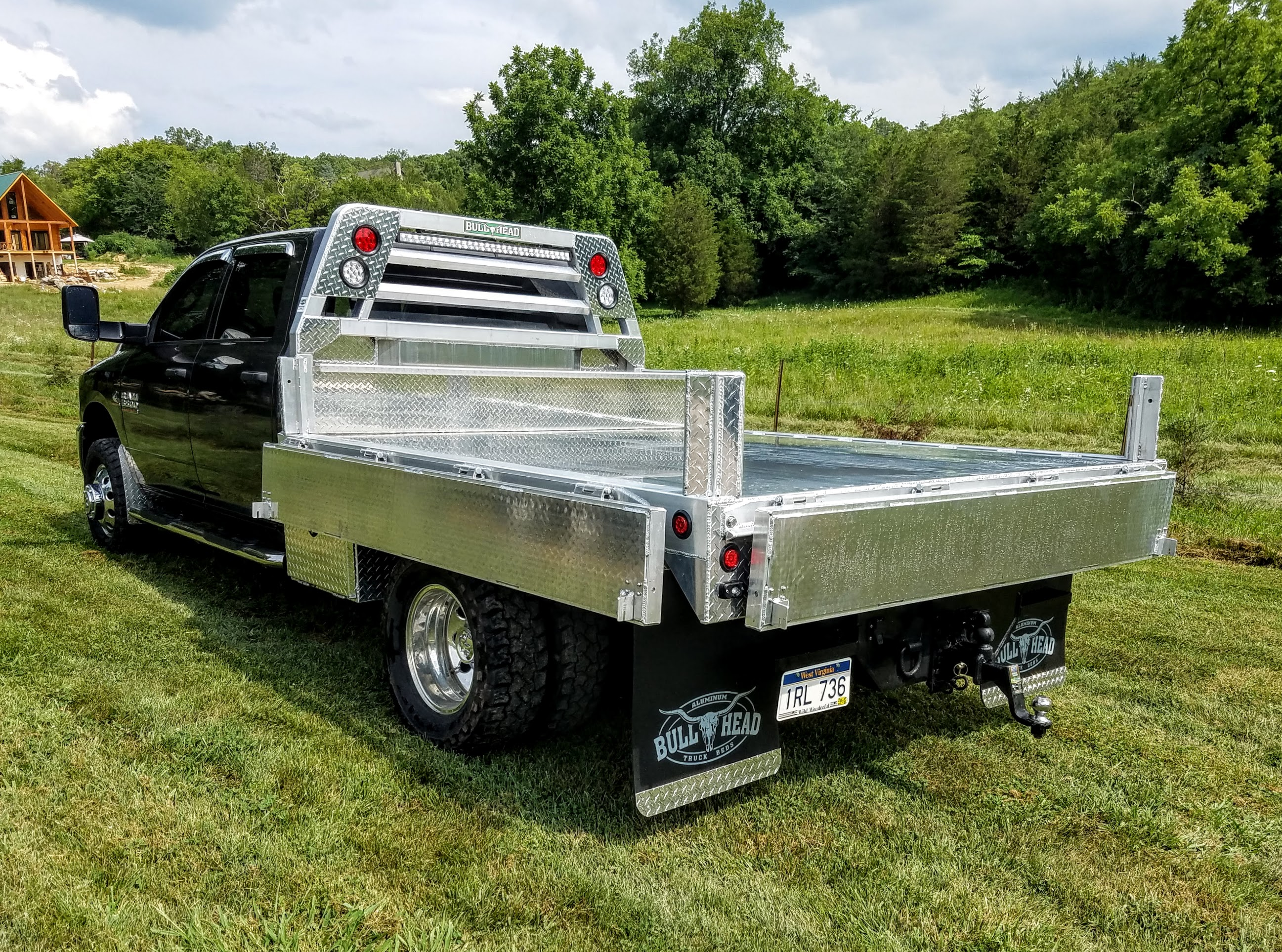 Aluminum Dump Bed Sides Down