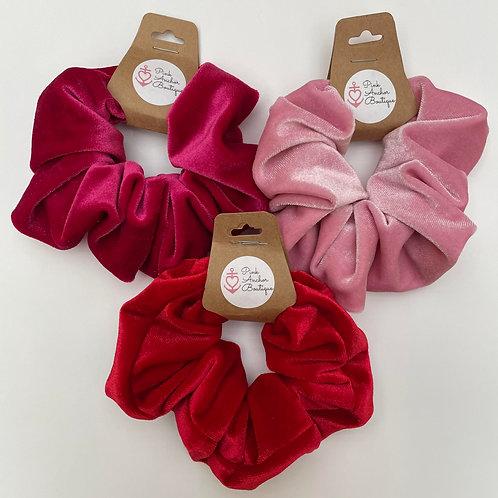 Oversized Velvet Scrunchies