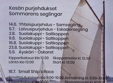 Också Small Ship's Race seglas
