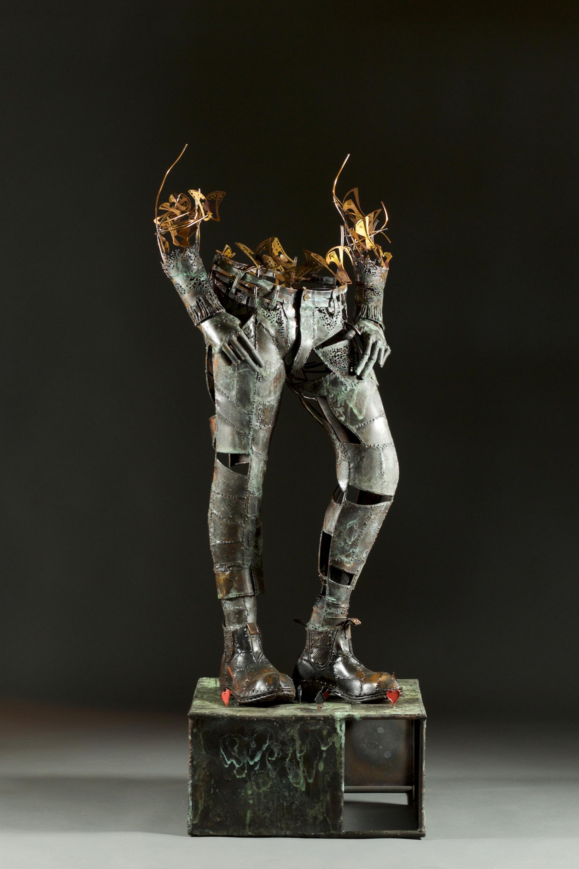 Mad hatter-copper black patina-h 160