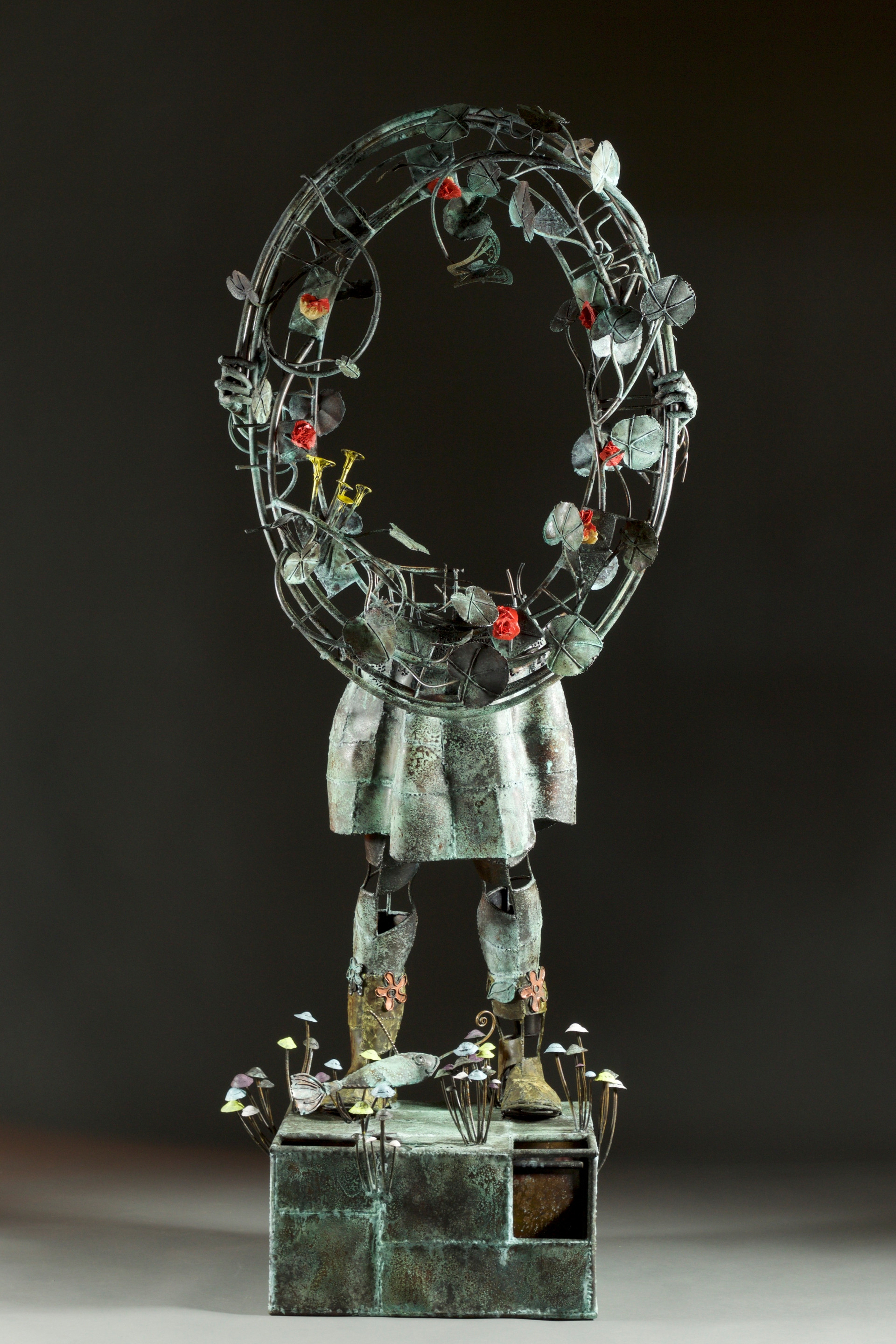 Alice mirror-copper and stone-dyed h 200