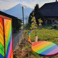 Regenbogen-Mustergarten